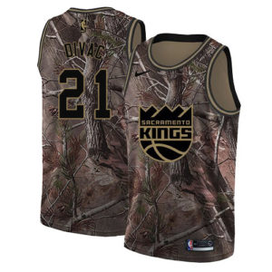 #21 Nike Swingman Vlade Divac Men's Camo NBA Jersey - Sacramento Kings Realtree Collection